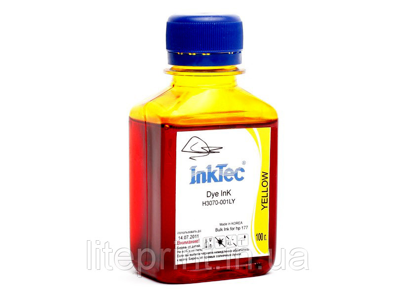 Чернила для принтера HP - InkTec - H3070, Yellow, 100 г