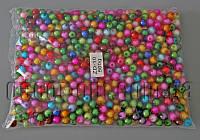 Бусы 10 мм цветные 0,5 кг
