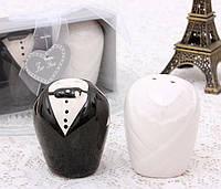 Оригинальный Сувенир Свадебный Набор для Соли и Перца Жених и Невеста