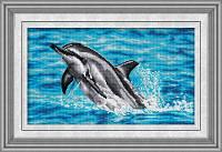 Набор в алмазной технике Дельфин