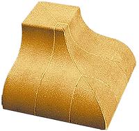 Облицовочный кирпич «Литос» угловой элемент «карниз наружный»