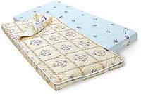 Тонкий детский ортопедический матрасик в кроватку BALU 2 IN 1 / БАЛУ ДВУСТОРОННЕЙ ЖЕСТКОСТИ, фото 1