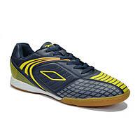 Мужские кроссовки синие с желтыми вставками