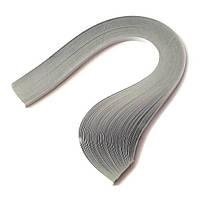 Папір для квілінгу (смужки) 5 мм, 160 г/м2, 100 шт. сірий