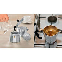 Гейзерная кофеварка из алюминия 450мл/9 порций Empire EM-9544  (Empire Эмпаир Емпаєр)