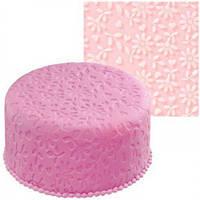 Текстурный силиконовый коврик для мастики 490*490мм Цветок Empire EM8400 (Empire Эмпаир Емпаєр)