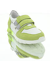 Кросівки дитячі, салатові/білі, шкіра (063М салат/біла Шк) Romastyle