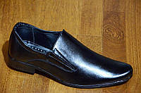 Туфли классические мужские без шнурков черные  удобные Львов. Со скидкой