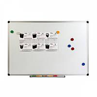 Доска магнитно-маркерная, алюм.рамка,  45x60.
