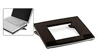 Подставка под ноутбук, Black&Silver, ProfiOffice