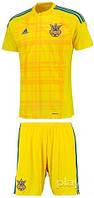 Детская футбольная форма  Adidas сборной Украины по футболу (желтая)