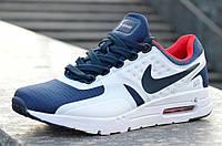 Кроссовки мужские Nike Air Max Zero реплика удобные синие с белым. Со скидкой