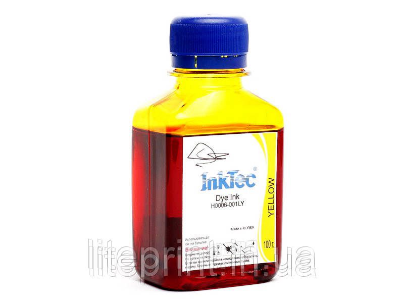 Чернила для принтера HP - InkTec - H0006, Yellow, 100 г