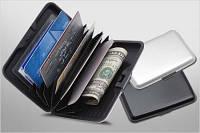 Алюминиевый бумажник - кейс для кредиток, кошелек кредитница