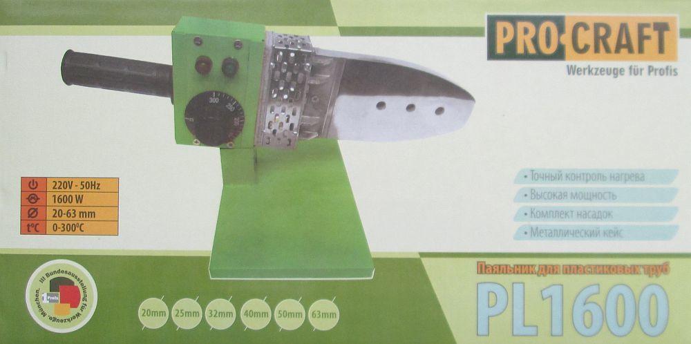 Паяльник для пластиковых труб Pro Сraft Pl1600