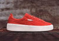 """Кроссовки Puma Suede Platform Core """"Red"""" Арт. 1258, фото 1"""