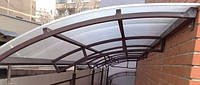 Конструкции из стекла и металла, козырьки и навесы, фото 1