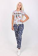 Молодежные женские штаны спортивного фасона