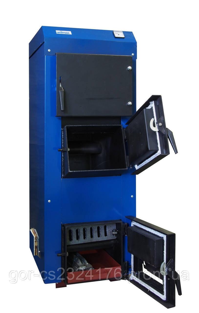 Твердотопливный котел КТ-98 «UNIMAX» с пультом управления и вентилятором