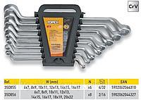 Набор ключей накидных коленчатых (6-17)мм, CrV, 6шт.TOPEX
