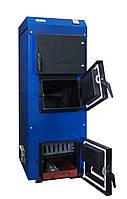 Твердотопливный котел КТ-80 турбо «UNIMAX» с ветиляторами(2шт), пультом и форсунками