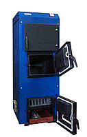 Твердотопливный котел КТ-200 турбо «UNIMAX» с ветиляторами(2шт), пультом и форсунками