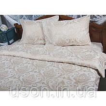 Комплект  постельного белья deco bianca евро размер жаккард -jk17-04-skahve