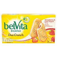 Печенье с начинкой Belvita Breakfast Duo Crunch Strawberry & Live Yogurt