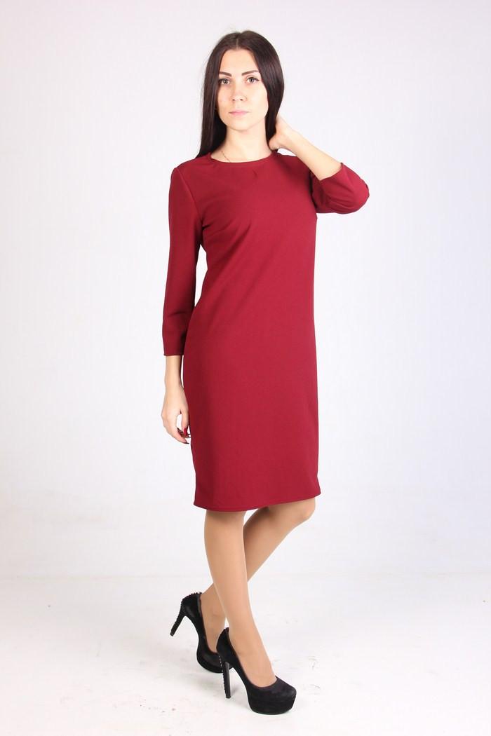 Стильное молодежное платья прямого фасона из дайвинга