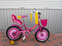 Детский двухколесный велосипед AZIMUT GIRLS 14 дюймов