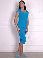 Домашняя одежда женская_Пижамы женские_Комплект для женщины 455/48/бирюза в наличии 48 р., также есть: 48,50,52,54,56,58, Роксана_ЦС