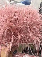 Перьевая тесьма из перьев страуса .Цвет бледно розовый.Цена за 0,5м
