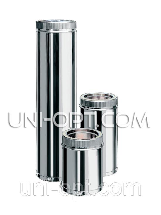 Труба дымоходная утепленная нерж/оцинк 1м AISI201