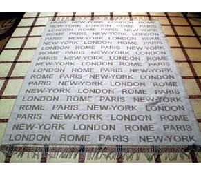 """Плед жаккардовый с бахромой Vladi """"Лондон"""" из  новозеландской овечьей шерсти, фото 2"""