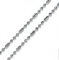 Цепочка фирмы Xuping, цвет серебряный. Перлина классическая (шарик+бочка) Длинна: 45 см. Ширина: 1 мм.
