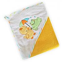 Детское полотенце с капюшоном Baby Mix утенок(желтый)