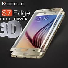 Защитное стекло Mocolo 3D 9H Electroplating на весь экран для Samsung Galaxy S7 Edge G935 золотистый