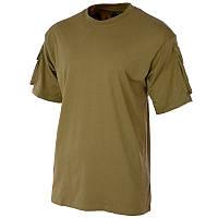 Тактическая футболка спецназа США, чёрная, с карманами на рукавах, х/б MFH 00121R