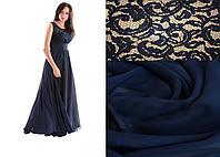 Платье вечернее Валентино синий мороз