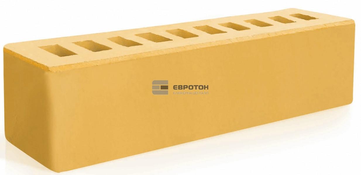 Кирпич облицовочный ЕВРОТОН брусок желтый