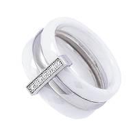 """Кольцо из керамики и серебра """"Кэролл"""""""