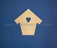 Домик с сердечком №2 заготовка для декупажа