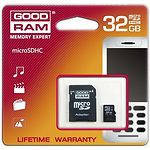 MicroSD HC 32Gb GOODRAM Class4 (с переходником на SD M40A-0320R11)