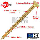 Шуруп универсальный SPAX VBU-PRO для твердых пород дерева 3х16 мм. FRIULSIDER, 500 шт. , фото 3