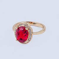 """Кольцо """"Рубенс"""" с красным кристаллом"""