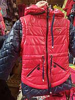 Куртка-жилетка розовая для девочки