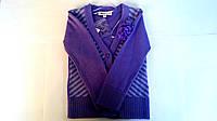 Тёплая кофточка на пуговицах для девочки от JBC светло-фиолетового цвета