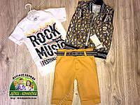 Летний костюм-тройка для мальчика Rock Music Festival
