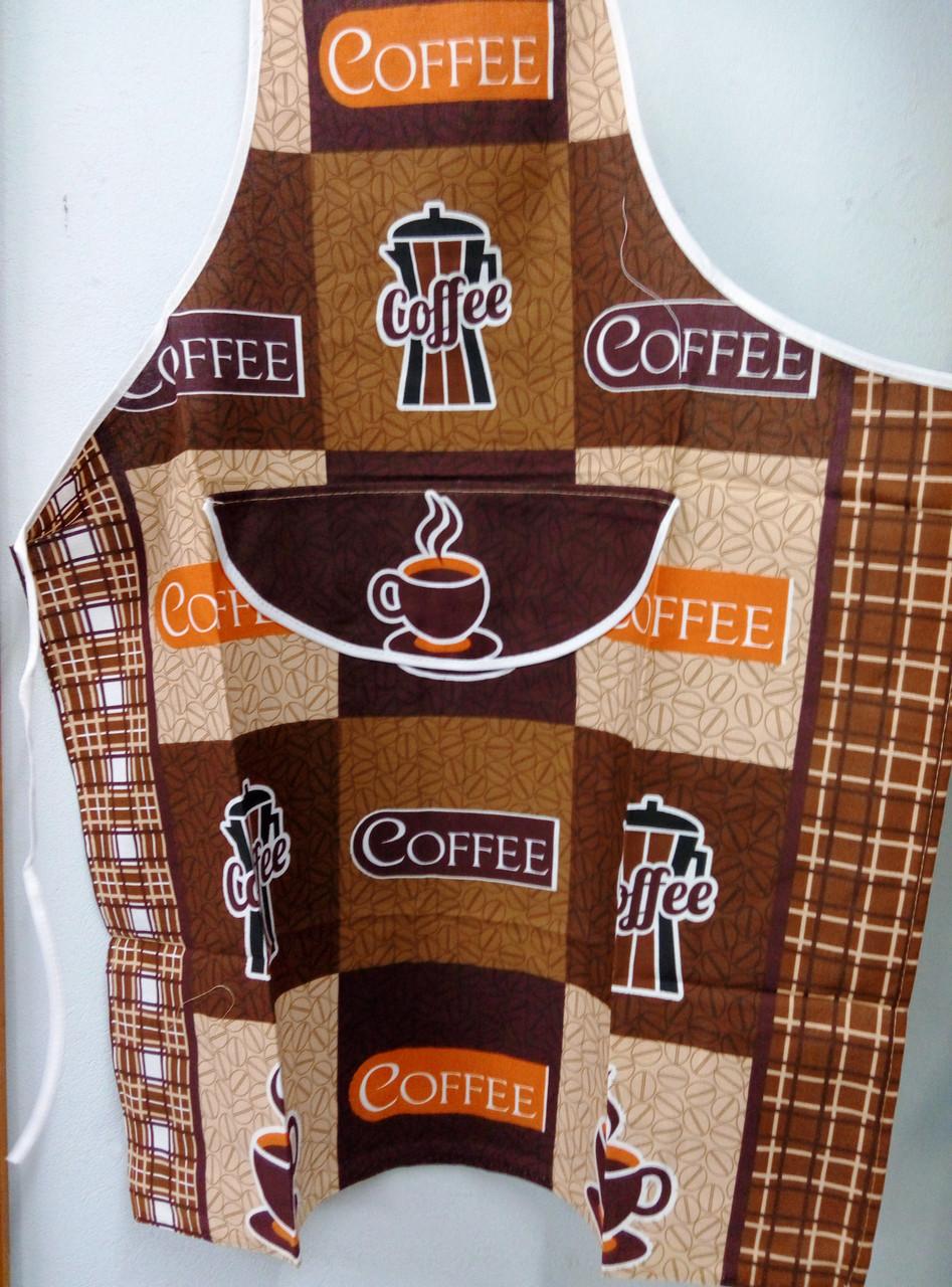 """Фартук из льна """"Кофе"""""""
