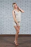 Женская пижама с шортами беж